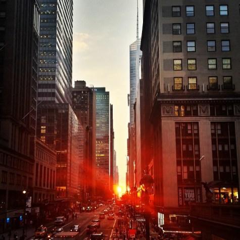 Manhattan tramonto