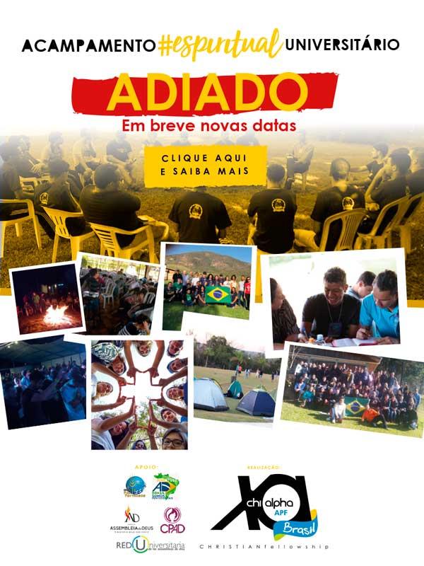 Banner Acamp 2020 adiado Mobile