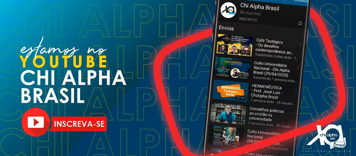 Banner Youtube Chi Alpha
