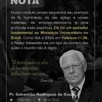 Nota de Falecimento - Pr. Sebastião Rodrigues de Souza - Mobile