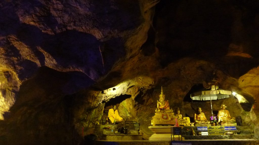 Buddha statues in Chiang Dao Cave