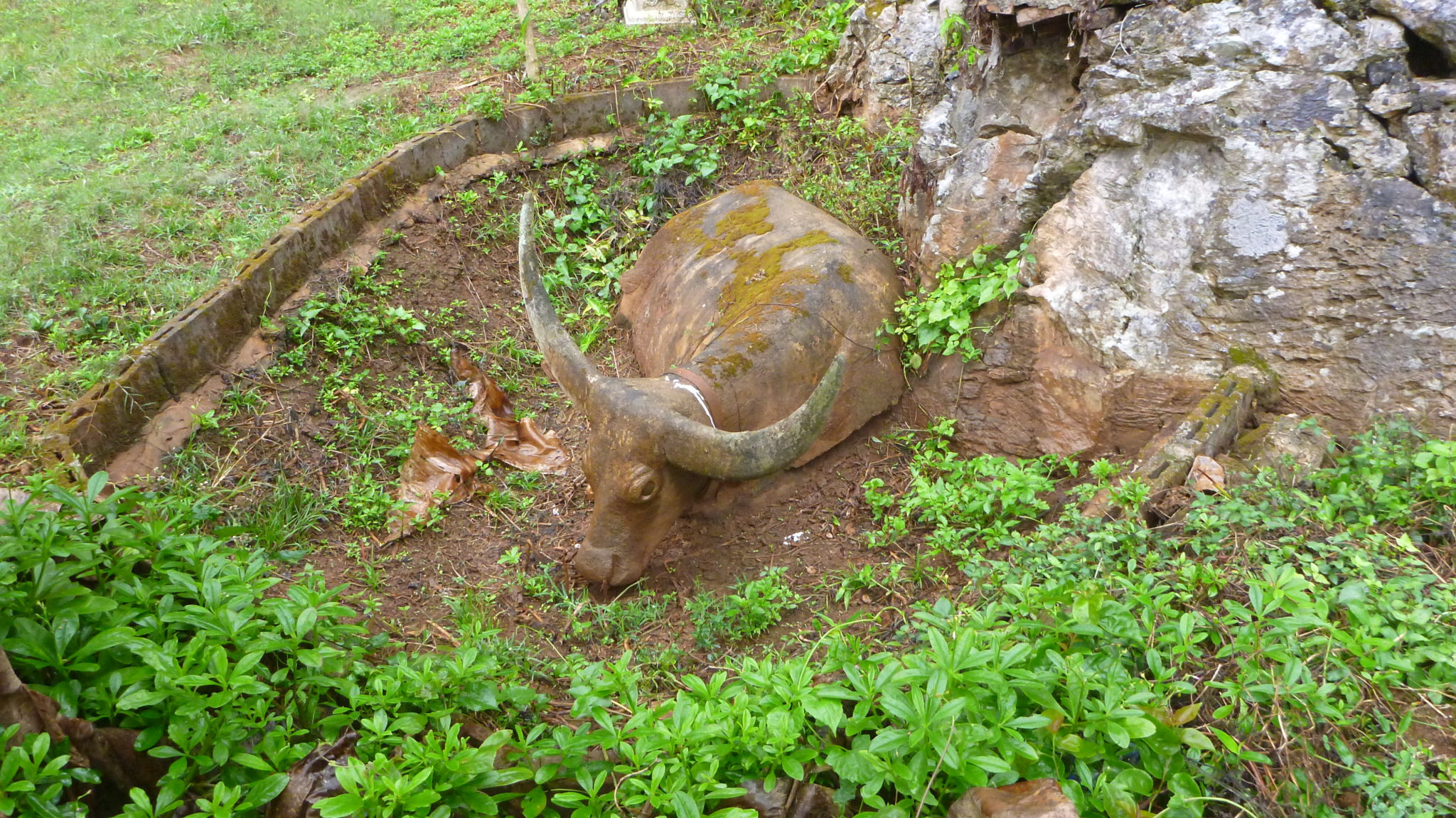 Carved Stone Bull