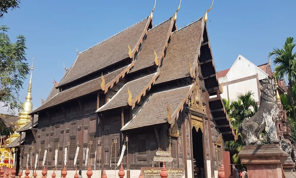 wooden wiharn of Wat Phantao Chiang Mai
