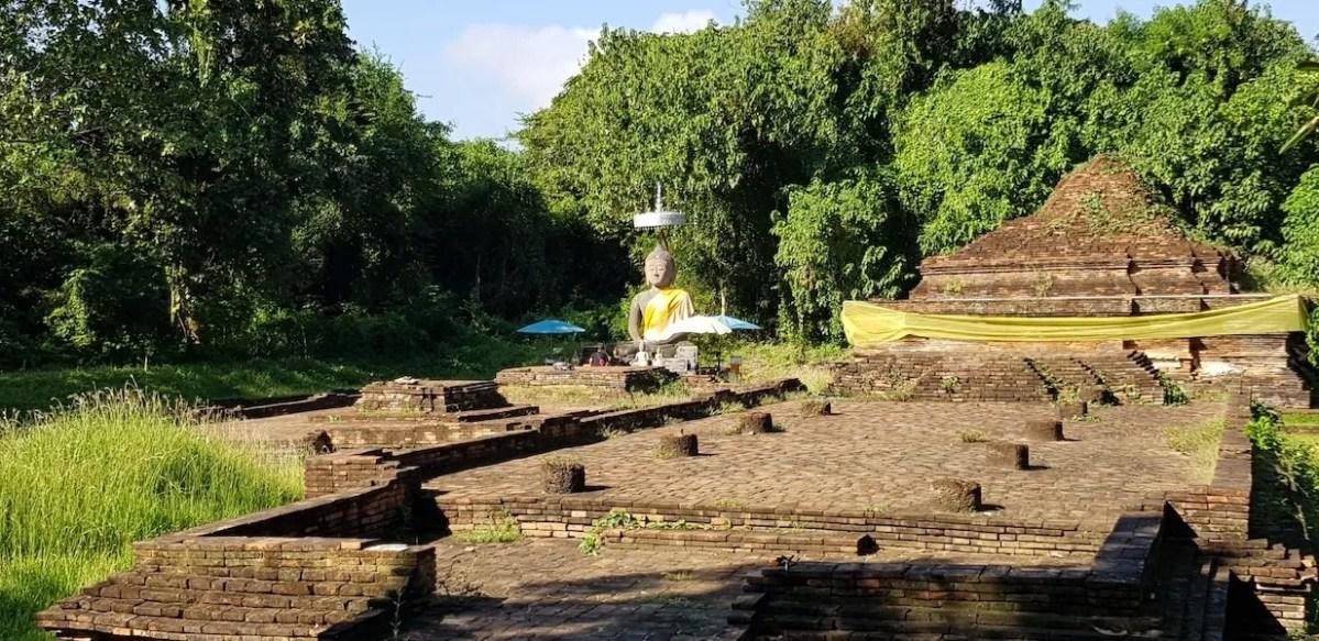 Ruin with Buddha statue