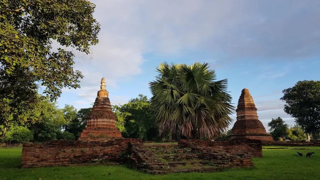 Two ruined chedis Wiang Tha Kan