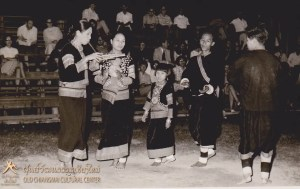 Tribal people dancing