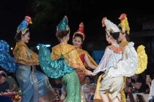Five dancers in costume
