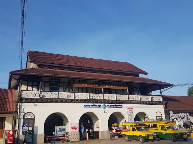 Station with two cars in front about Chiang Mai a la Carte