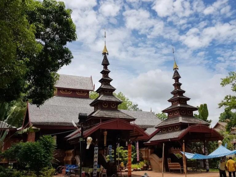 Burmese style temple Thailand Railway Journeys