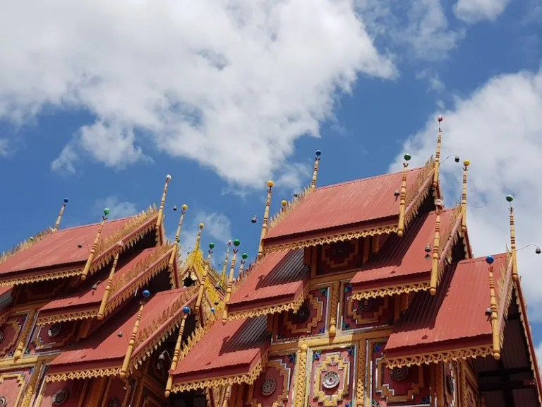 multi-layered temple roof