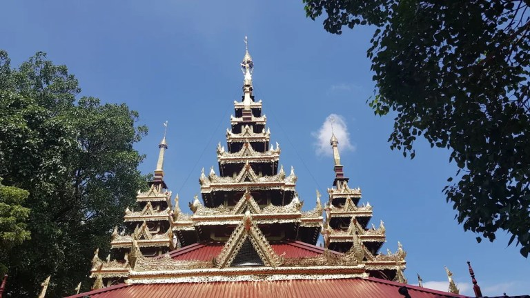 Temple roof with trees