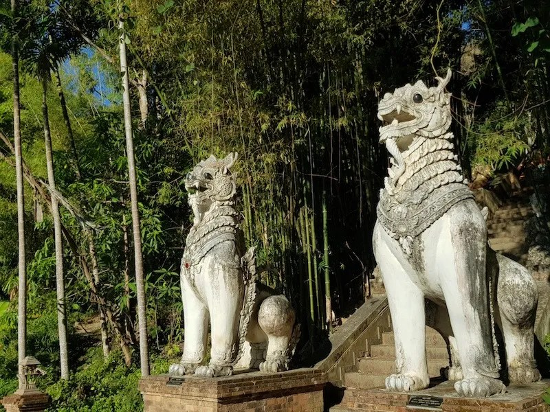 Two animal statues