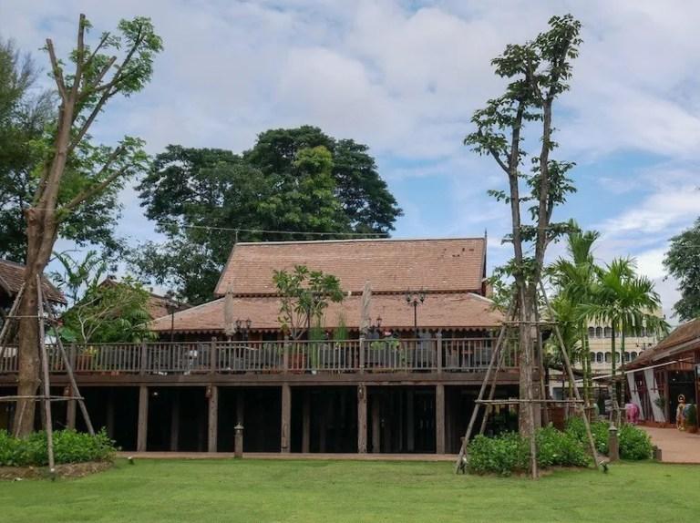 Old house on stilts teak trade