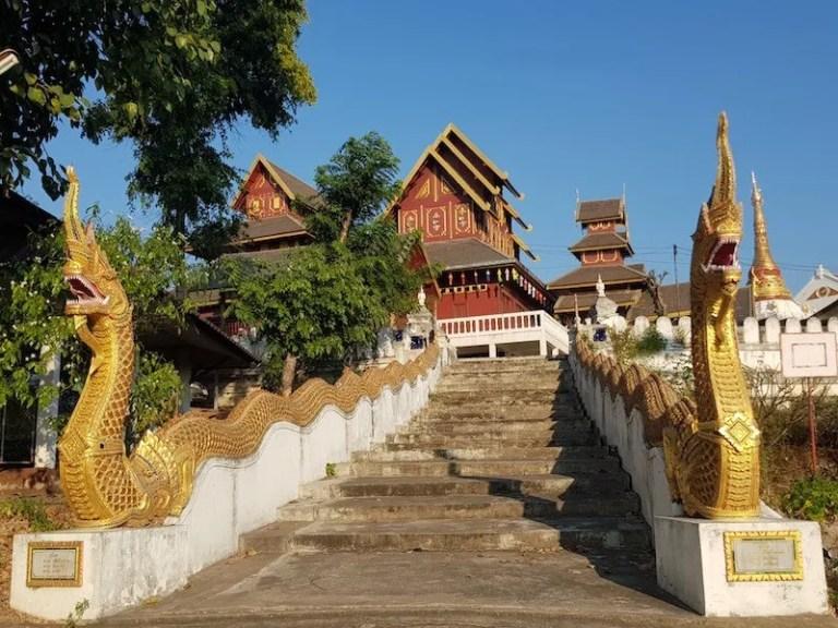 Staircase to temple Burmese heritage lampang shan people