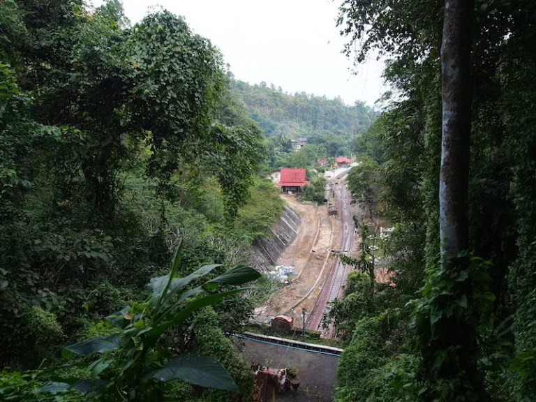Railway station in the forest Khun Tan Tunnel