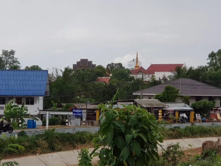 View of a temple in the distance