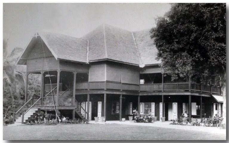 old wooden house on stilts