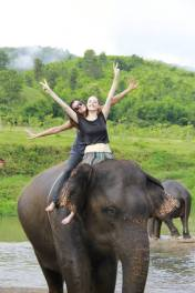 Elephant riding is loads of fun!
