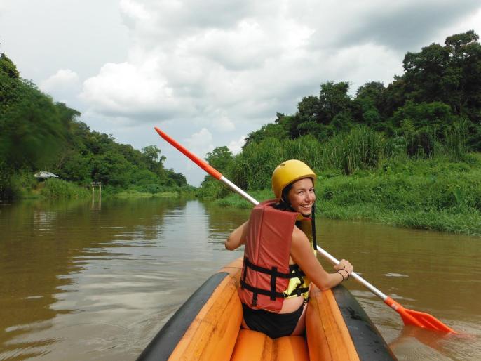 Canoeing in a wonderful scenery