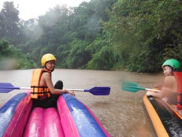 Our guests at the start of canoeing trip