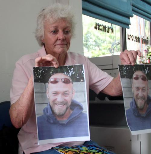 Lynne Bean flew into Phuket to assist in the search for her son