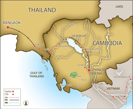 "Thailand and Cambodia entered into an agreement on Friday to establish a ""sister cities"""