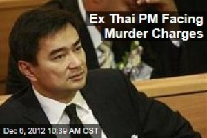 Murder charges brought against former Prime Minister Abhisit Vejjajiva