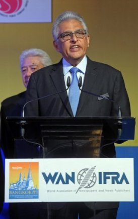 President of the World Association of Newspapers and News Publishers (WAN-IFRA), Jacob Mathew.