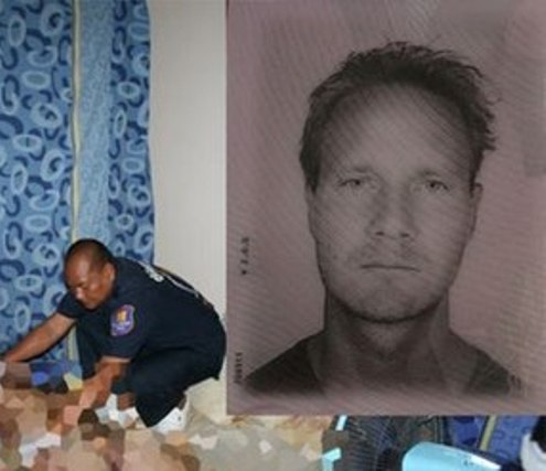 Mr.David Cavallin, 43, was found on the mattress with his head covered in a black plastic bag