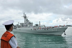 The Mianyang missile frigate of Chinese Navy is seen at Sattahip naval base in Chon Buri province of Thailand