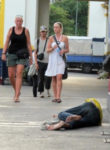 There are believed to be up to 30 homeless foreigners in Chiang Mai