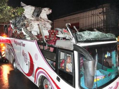 A total of 12 people were injured, including 10 German tourists, the tour guide and the driver. All were taken to Rama 9 Hospital