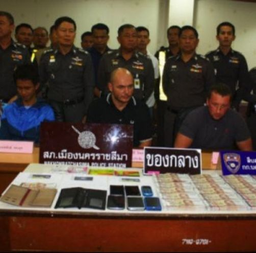 Alexi Ivanov, 27; Sergey Peternov, 38  a former Russian police officer and Pol Sen Sgt Maj Nontapan Saengsuk, 37 who is a Thai Tourist Police officer