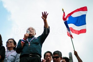 Suthep says his goal is to replace the government with a non-elected council