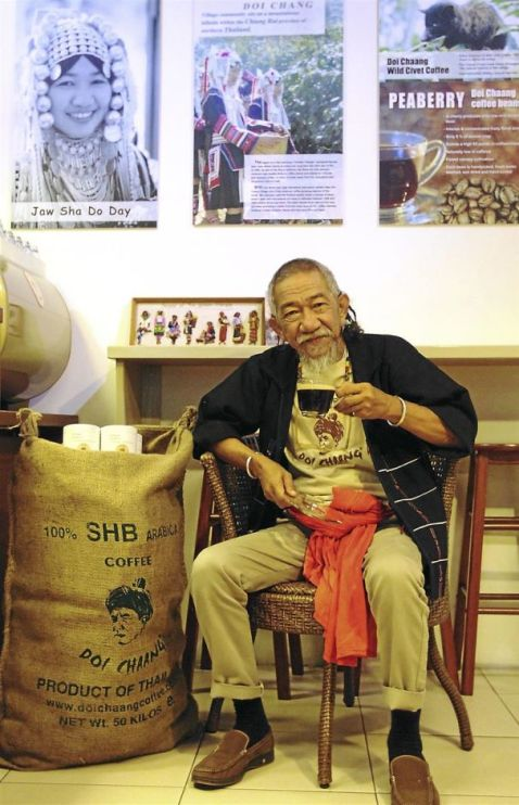 Perfect cuppa: Wicha Promyong has put in a lot of effort to make coffee the lifeblood of Akha hill tribe from the village of Doi Chang.