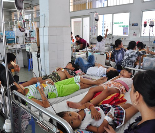 Most of the patients are children under the age of 5 and the elderly above the age of 55