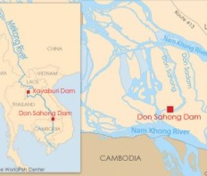 The Don Sahong Dam will be the second Mekong mainstream dam after the U.S. $3.5 billion Xayaburi Dam, construction of which resumed last year following delays amid objections from Laos's neighbors.