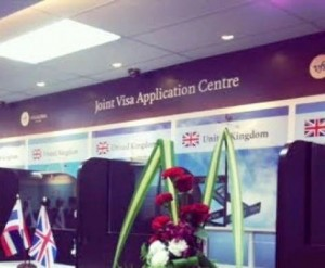 The UK's visa application centre relocated to its new home on the 28th floor of the Trendy Office Building on Sukhumvit Road Soi 13, which is shared premises with the Australian visa application center.