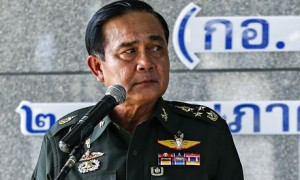 General Prayuth Chan-ocha, above, Thailand's acting premier after the coup, ordered political leaders to report to him at Thai army headquarters in Bangkok.