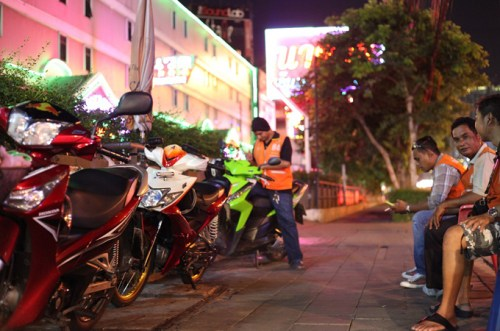 The clampdown on motorbike taxis is 'highly political', said one researcher [Steve Finch/Al Jazeera]