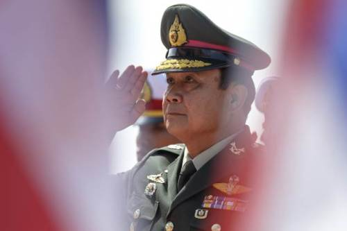 Thailand's Army Chief Prime Minister, General Prayuth Chan-ocha, Hands over Command of the Army