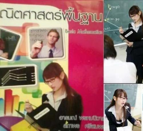 Porn Star Accidentally Ends Up on Math Book Cover