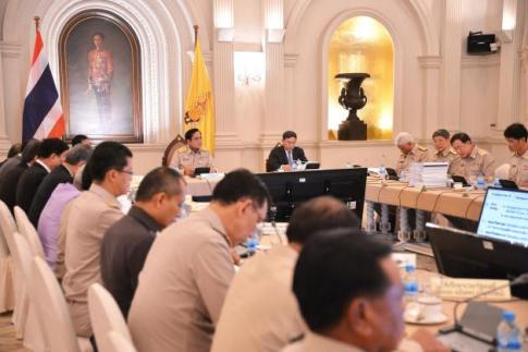 Prime Minister Prayut meeting with the Policy Committee on Special Economic Zone Development