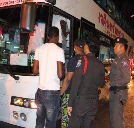 72 Black Skinned people were loaded on a bus and detained for blood tests