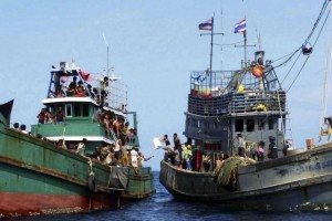 In recent days more than 1,350 people have been rescued and brought ashore by fishermen from Aceh province in Indonesia. (Reuters, file photo)