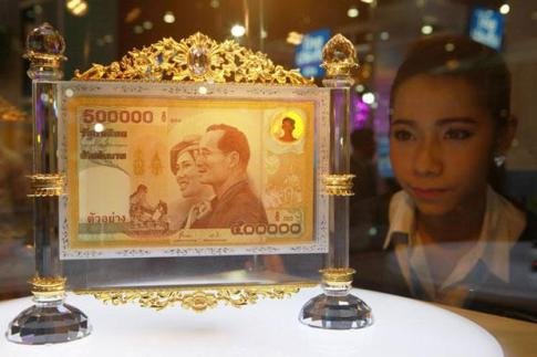 Bank of Thailand Offering Bt500,000 Banknotes for 1 Million Baht Each