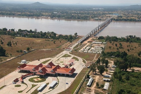 The bridge links two of the countries comprising the Golden Triangle, through which most heroin and methamphetamine passes on its way to Thai, Chinese and world markets
