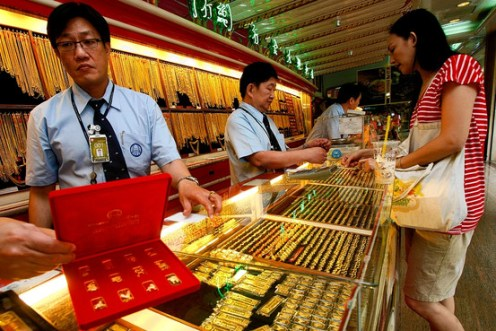 Gold on Wednesday are quoted at 17,900 baht per baht weight for buying and 18,000 baht per baht weight for selling