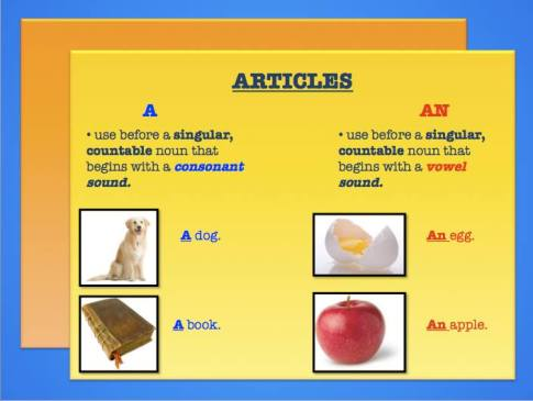 Jen's English Tips – A, an, and the: How to use articles in English
