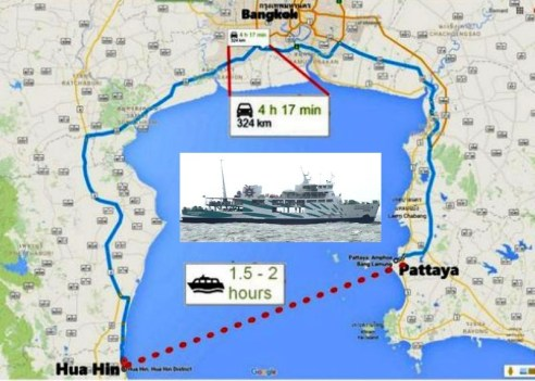 New Ferry Service from Pattaya to Hua Hin to Commence January 1st, 2017